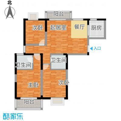 彩虹湖132.00㎡户型3室2厅2卫