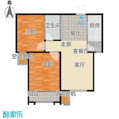 丽景蓝湾C区84.00㎡F2户型两室两厅一卫户型2室2厅1卫
