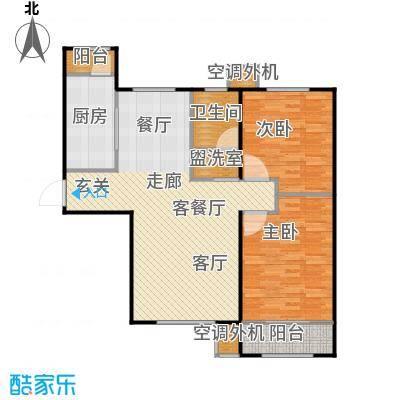 丽景蓝湾C区101.14㎡B3户型两室两厅一卫户型2室2厅1卫
