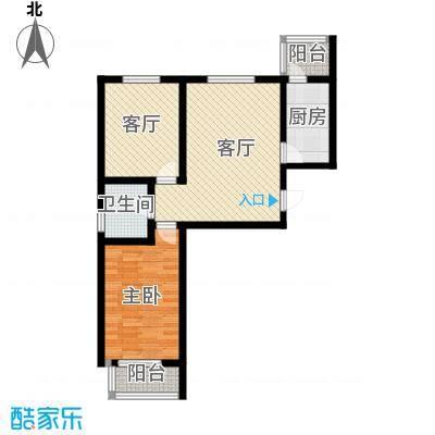 天津未来城82.87㎡I户型2室2厅1卫