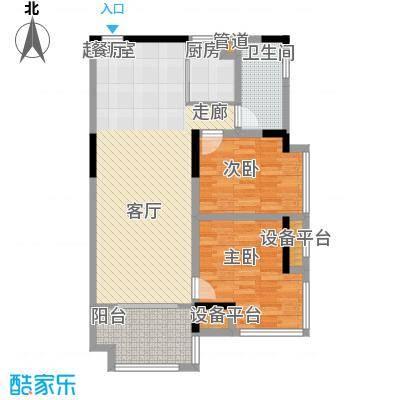 铭欣华府两房两厅84-89平米户型