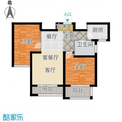 容大东海岸87.00㎡S户型2室2厅1卫1厨 87.00㎡户型2室2厅1卫