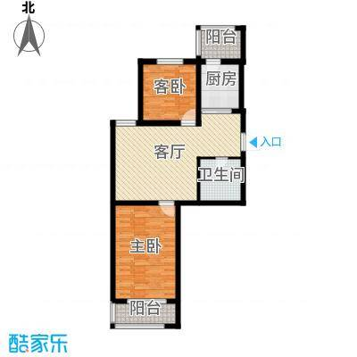 天津未来城83.18㎡A户型2室1厅1卫