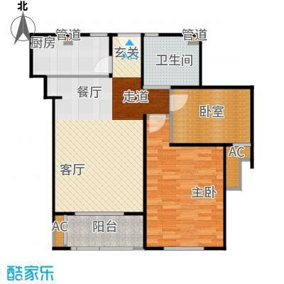 招商南桥1号80.00㎡二房二厅一卫-82平方米-95套户型