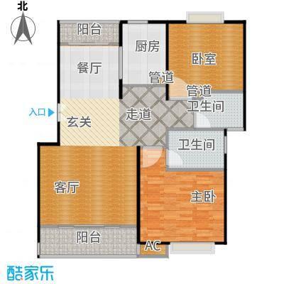 明城玫瑰园100.00㎡房型: 二房; 面积段: 100 -110 平方米;户型
