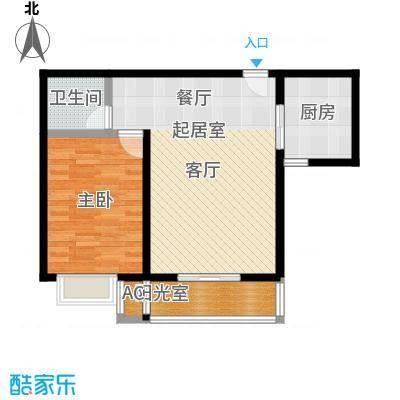 吉隆公寓68.75㎡B一室一厅一卫户型1室1厅1卫