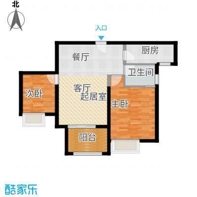 苏宁睿城J2户型2室1卫1厨