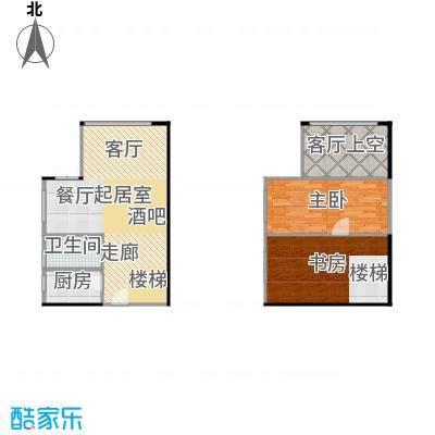 大旺・海印又一城56.73㎡C座 21单位 18层户型