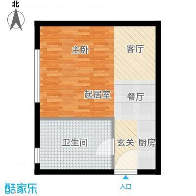科贸时代国际公寓50.00㎡一室户型