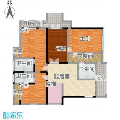 黄金海岸F1户型二层平面图户型3室1厅3卫