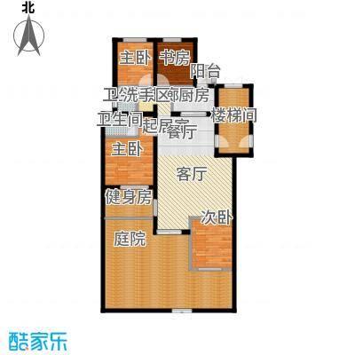 珑�庭138.00㎡A户型4室2卫1厨