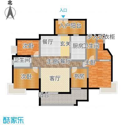方圆江湾水恋145.00㎡A户型4室1厅2卫1厨