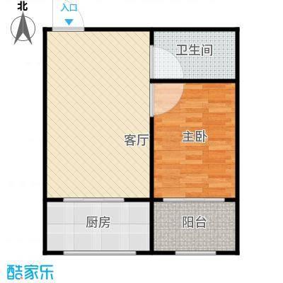 世水蓝庭户型1室1厅1卫1厨