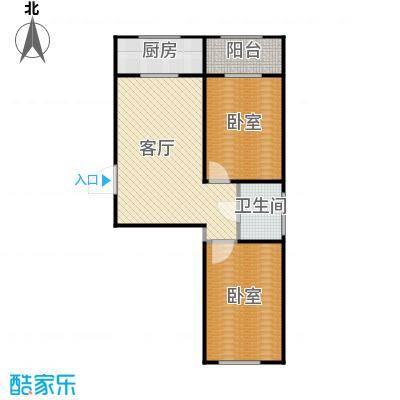 世水蓝庭户型1厅1卫1厨