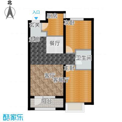金地长青湾89.00㎡两室两厅一卫户型2室2厅1卫X