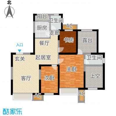 金地长青湾147.00㎡三室二厅二卫户型3室2厅2卫QQ