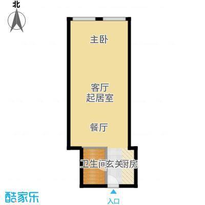 正佳东方国际广场66.30㎡B户型1卫