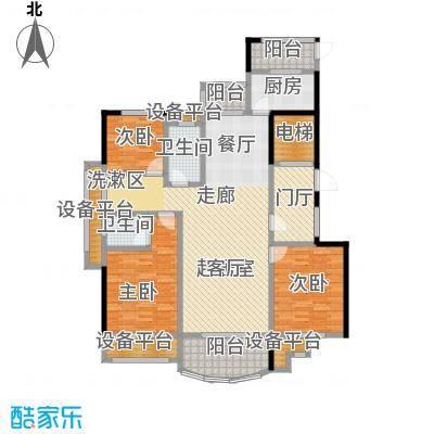 旺江壹品户型3室2卫1厨