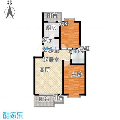 九通家园二期A二室一厅一卫90-110平户型