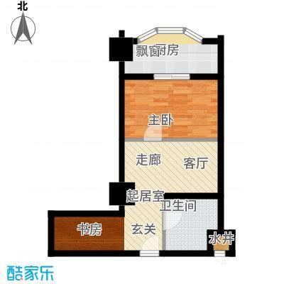 金色水岸57.35㎡金地大厦单身公寓户型