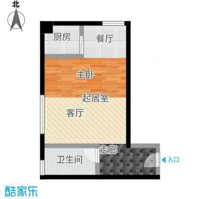 领先心城二期38.70㎡酒店式公寓户型
