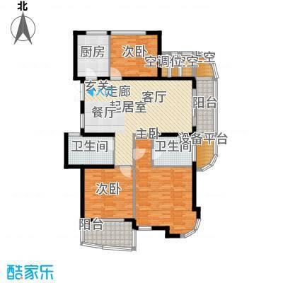 金色水岸137.00㎡A6户型奇数层户型3室2厅2卫
