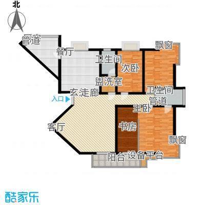 名人国际 TOP世界观225.29㎡01户型A单元四室两厅两卫户型4室2厅2卫