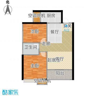 南飞鸿天锦10#C户型2室1卫1厨