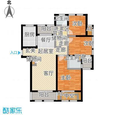 亿丰赛格数码城120.00㎡财富公馆房源户型3室2厅2卫