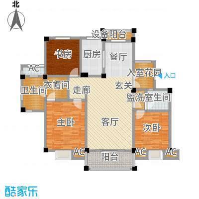 鸿地凰庭124.00㎡B9户型3室2厅2卫