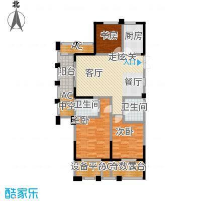 鸿地凰庭118.00㎡A1户型3室2厅2卫S