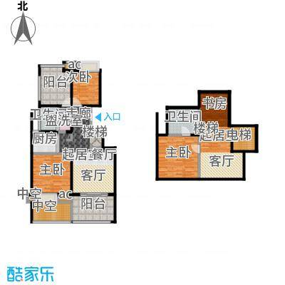 国贸仁皇75.00㎡AT户型(顶层)户型2室2厅1卫