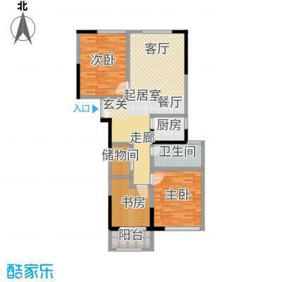 晓庄国际广场113.00㎡E经典户型3室1卫1厨