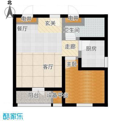 仁和宜佳公寓76.00㎡一室两厅一卫户型1室2厅1卫