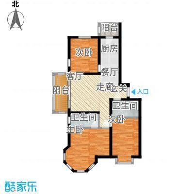 群力观江国际三室二厅使用面积90.62平米户型3室2厅