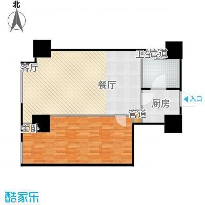 金盛国际户型1室1厅1卫1厨