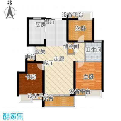 蓝天小区F户型标准层户型3室2厅1卫