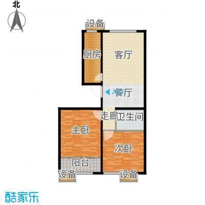 大舜天成中国盒子C户型2室2厅1卫1厨 106.01㎡户型2室2厅1卫