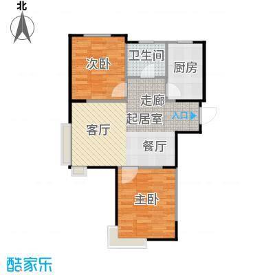 LOHAS上院7号公寓85.29㎡户型2室2厅1卫