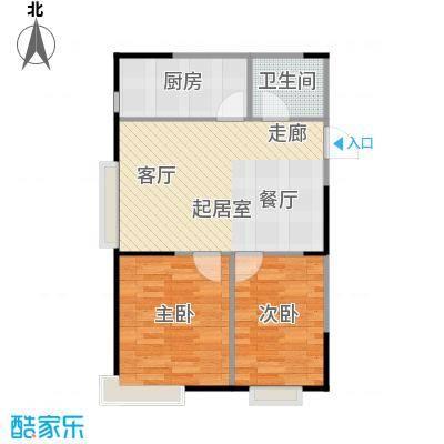 LOHAS上院7号公寓80.19㎡户型2室2厅1卫