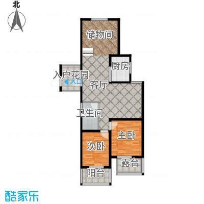 翰林世家96.00㎡11号楼E1-1偶数层户型3室2厅1卫