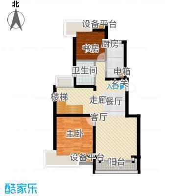 蓝天小区175.00㎡J户型复式下层户型4室3厅2卫
