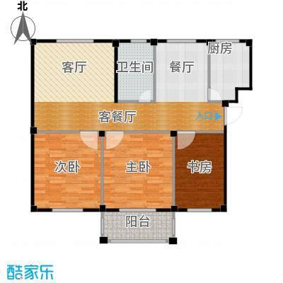 东海明园97.73㎡7#楼02户型3室2厅1卫