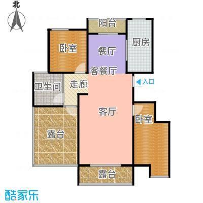 城发花园94.89㎡户型B11#户型2室2厅1卫