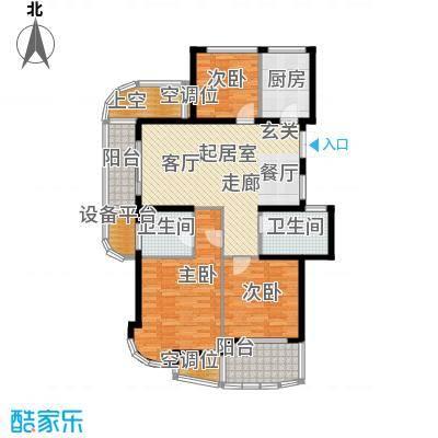 金色水岸129.00㎡A5户型奇数层户型3室2厅2卫