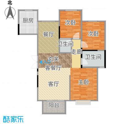 恋日风尚三房两厅户型