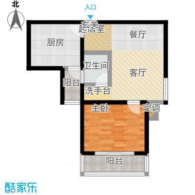 曲阳名邸58.00㎡房型: 一房; 面积段: 58 -76.88 平方米; 户型