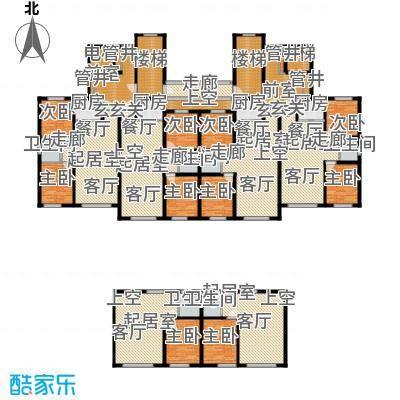 浅草绿阁八期水岸枫庭QQ户型9室6卫4厨