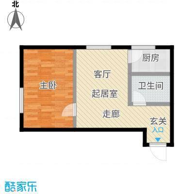 莫比国际61.09㎡G13户型1室1厅1卫
