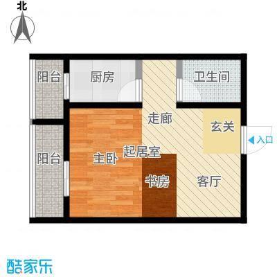 莫比国际57.21㎡G11户型1室1厅1卫